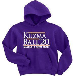 Kyle Kuzma Lonzo Ball Lakers ADULT 2XL HOODIE